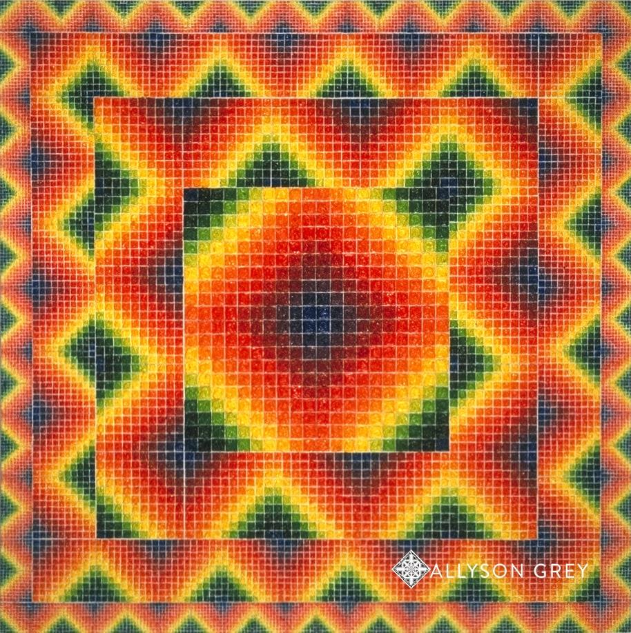 Mandala of 11,000 Squares