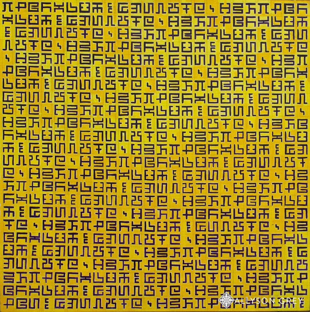Secret Writing Yellow & Dioxine