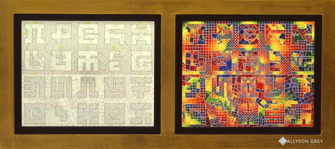 Deconstructed Harlequin Diptych